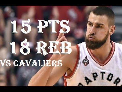 Jonas Valanciunas 15 pts 18 reb  vs  Cavaliers Jan 11, 2018