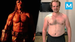David Harbour Training for Hellboy | Muscle Madness