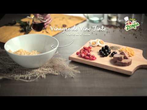 Ensalada de tornillos, huevo, atún y aceitunas | PASTAS ZONIA