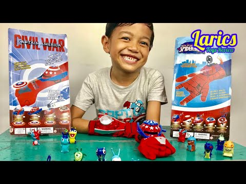 Surprise Spiderman And Captain America Civil War With Slug Terra - Bagus Dan Lucu Banget