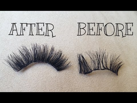 HOW TO REPAIR AND STACK FALSE LASHES  - SONJDRADELUXE