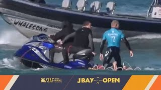 A shark attacks Mick Fanning in the Final at the   J-Bay Open 2015  . Thankfully the former World Champion walks away unharmed.