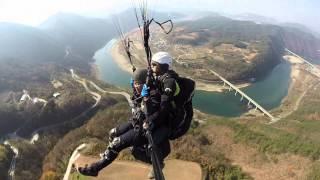 Chungcheongbuk-do South Korea  city photos gallery : Paragliding @ Danyang, South Korea (GoPro video)
