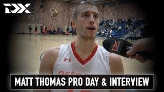 Matt Thomas NBA Pro Day Workout Video and Interview
