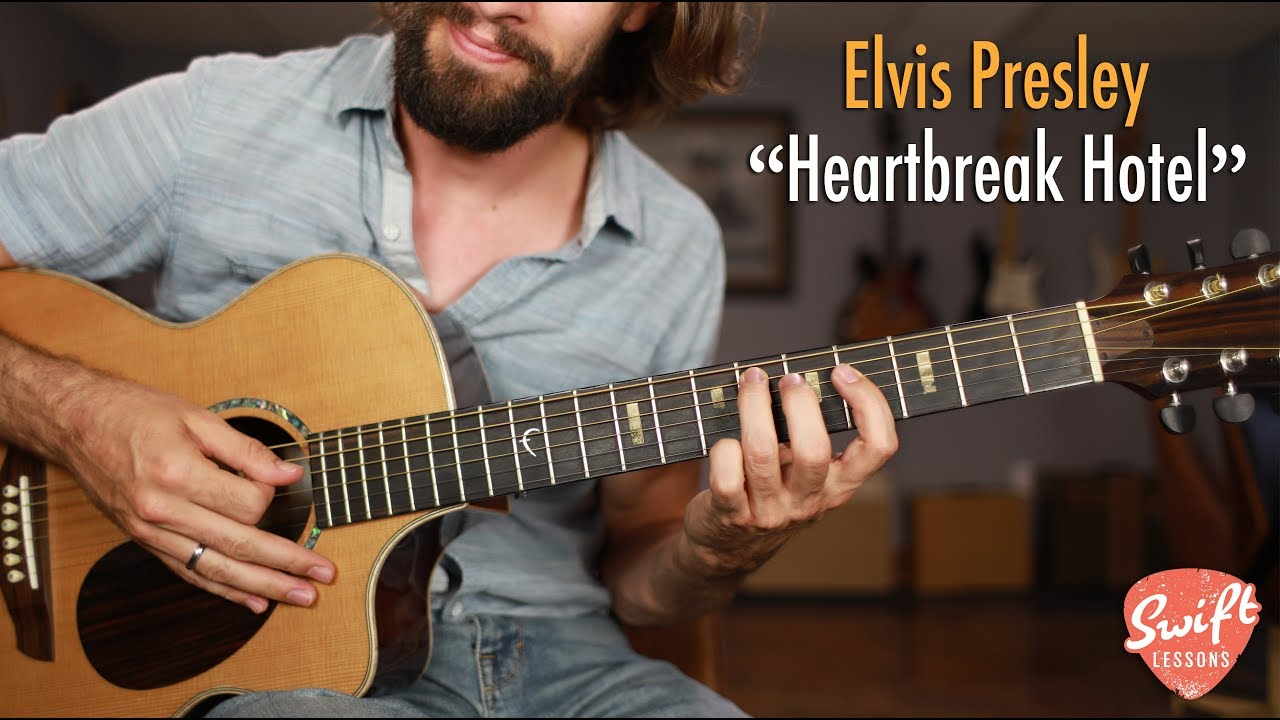 "Elvis ""Heartbreak Hotel"" Guitar Lesson – Easy Beginner Songs"