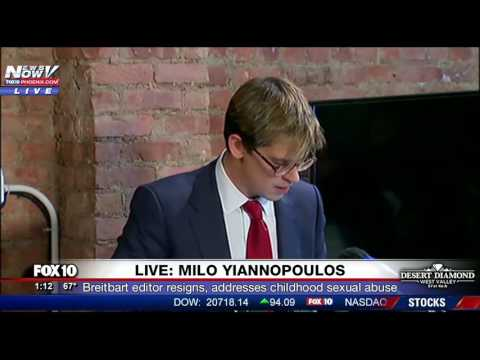 PRESS CONFERENCE: Milo Yiannopoulos Resigns from Breitbart, Tells Story of Past Sexual Abuse (FNN)