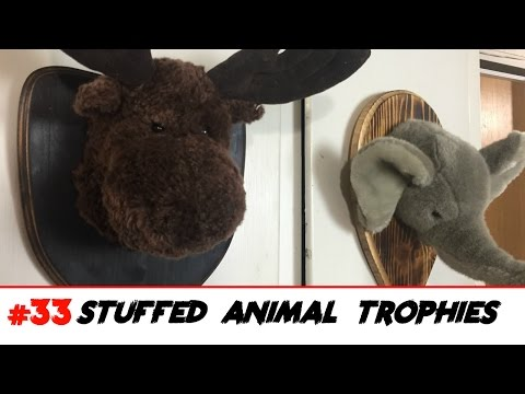 Stuffed Animal Head Trophies