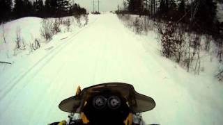 9. Rippin through trails - MXZ REV 600 carb (500ss) Sno-stuff stinger