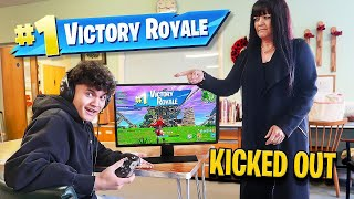 16 Year Old Little Brother EXPELLED for Playing Fortnite in SCHOOL
