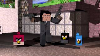 Minecraft Sterling Archer And The Angry Birds Dancing