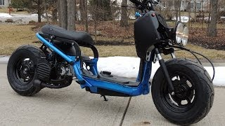 10. Custom Honda Ruckus Project...Time-lapse video.
