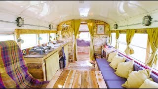 School Bus Converted to an Inspirational Tiny Home! 🚌 by Nate Murphy