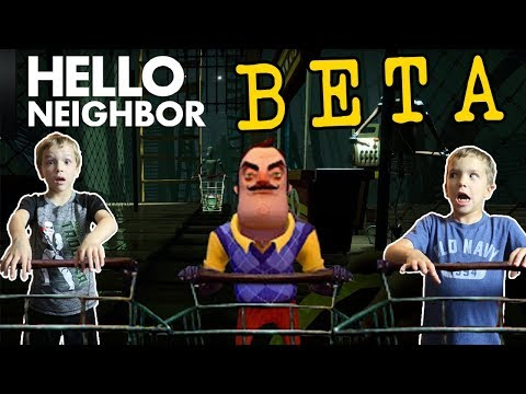 NEW Attic Door Unlocks Shopping Room! Hello Neighbor BETA Twin Toys Kids Jumpscare