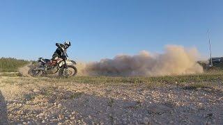 10. 2014 KTM 690 Enduro r - Pivot Turn Practice