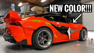 PEELING THE PAINT OFF THE SUPRA!! *NEW COLOR INCOMING* by TJ Hunt