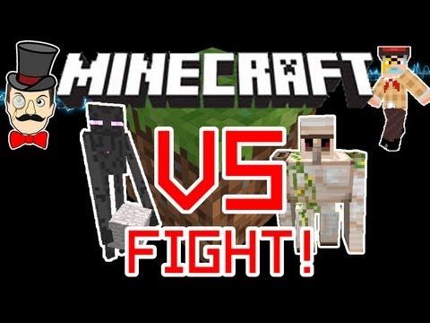 Minecraft ENDERMAN vs IRON GOLEM Mob Battle !