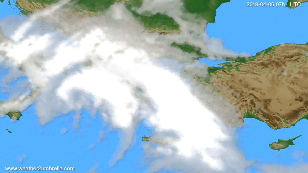 Cloud forecast Greece // modelrun: 12h UTC 2019-04-03