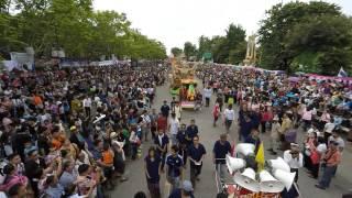Ubon Ratchathani Thailand  city images : ถ่ายภาพมุมสูง Candle festival 2015 Ubon Ratchathani Thailand, แห่เทียนพรรษา