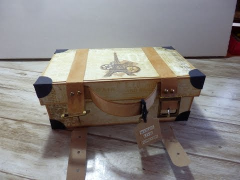Mini Album im Koffer (Album in a suitcase) #DIY #How to Teil 1 - Das Tinchen