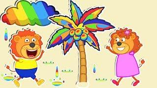 Video Lion Family 🌈 Rainbow World Cartoon for Kids MP3, 3GP, MP4, WEBM, AVI, FLV Juni 2019