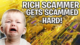 ANGRY Rich Kid Scams Himself! (Scammer Gets Scammed) Fortnite Save The World