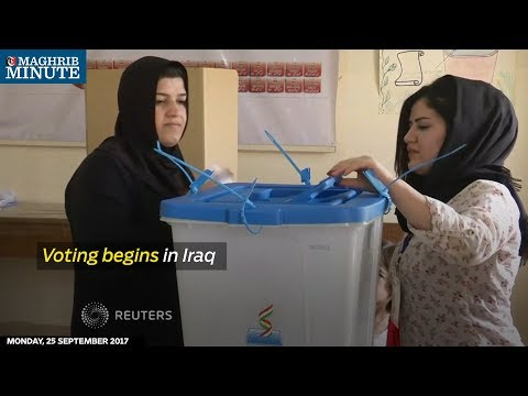Voting started on Monday in an independence referendum organised by the Kurdish Regional Government