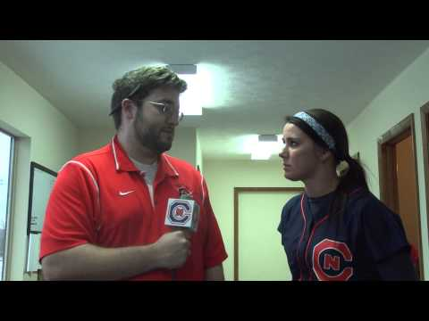 C-N Softball: Hayley Burnette post-Brevard 3-18-15