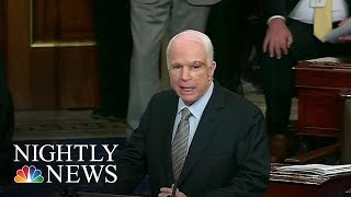 In a dramatic return to the Senate, Sen. McCain took the floor to admonish his colleagues on both sides of the aisle to work ...