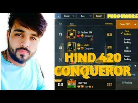 TODAY CONQUEROR HIND 420 ?? PUBG MOBILE LIVE   ASIA SQUAD #1 GAMEPLAY  