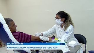 Solidariedade: campanha ajuda hemocentros de todo país