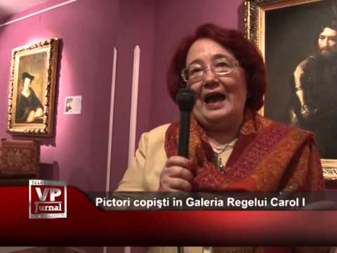 Pictori copişti în Galeria Regelui Carol I