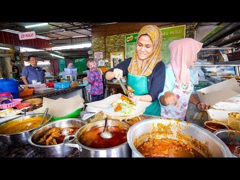 Street Food Malaysia 🇲🇾 NASI KERABU + Malay Food Tour in Kelantan, Malaysia!