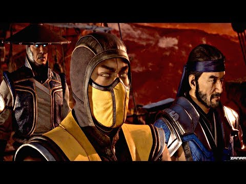 MORTAL KOMBAT 11 - Raiden Army vs Kronika's Army Final Battle Epic Scene (MK11 2019) PS4 Pro