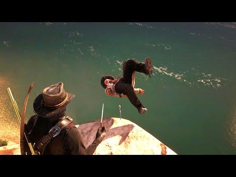 Red Dead Redemption 2 - Epic & Funny Ragdolls Vol.65 [4K/60FPS]
