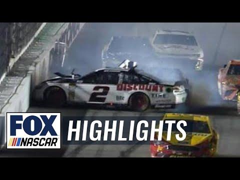 Brad Keselowski crashes out late in Duel #1 | 2018 DAYTONA 500 | FOX NASCAR