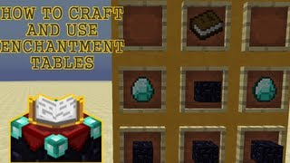 HOW TO CRAFT&USE AN ENCHANTMENT TABLE [Minecraft 1.6.2]