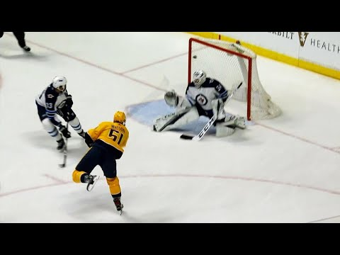 Video: Predators score two short-handed on same penalty against Jets