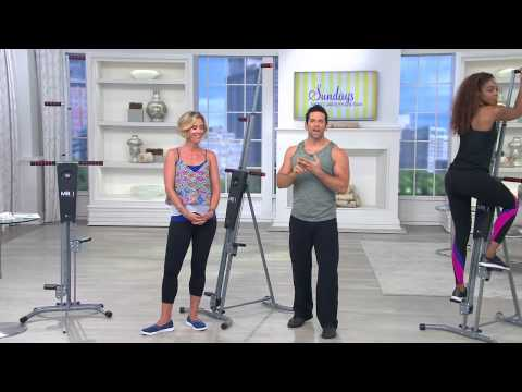 MaxiClimber Full Body Workout Calorie Burning Fitness Machine with Dan Hughes