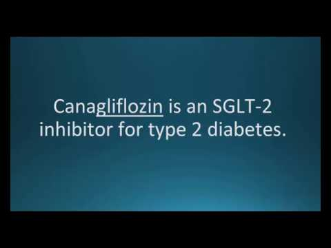 How to pronounce canagliflozin (Invokana) (Memorizing Pharmacology Video Flashcard)