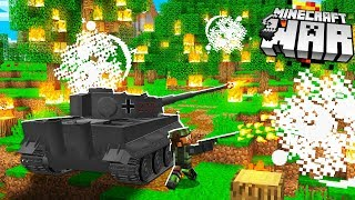 Attacking Minecraft BANDITS land.. with a TANK!