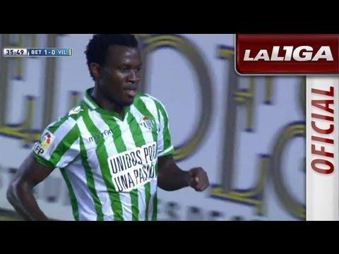 Gol de Nosa (1-0) en el Real Betis - Villarreal CF - HD (видео)