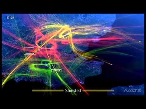Видео инфографика трафика в аэропортах Лондона - Центр транспортных стратегий