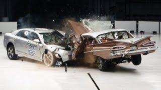1959 Chevrolet Bel Air Vs. 2009 Chevrolet Malibu IIHS Crash Test 8186230 YouTube-Mix