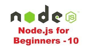 Node.js Tutorial for Beginners 10 - Node.js Events and EventEmitter