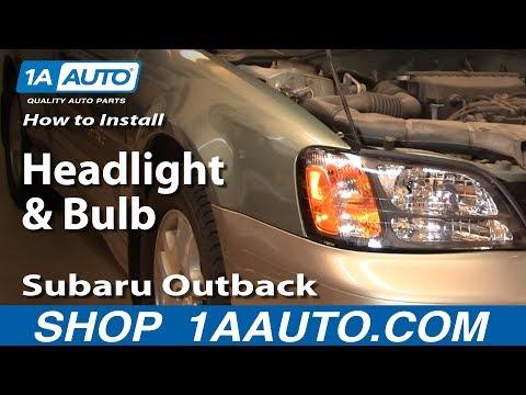 How To Install Replace Headlight and Bulb Subaru Outback 01-04 1AAuto.com