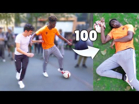 If I Get 100 NUTMEGS I Win $1000 In This Soccer Challenge