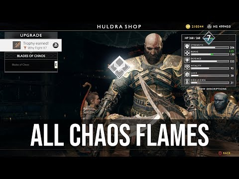 Why Fight It? Trophy (All Chaos Flames) Tutorial - God of War (2018)