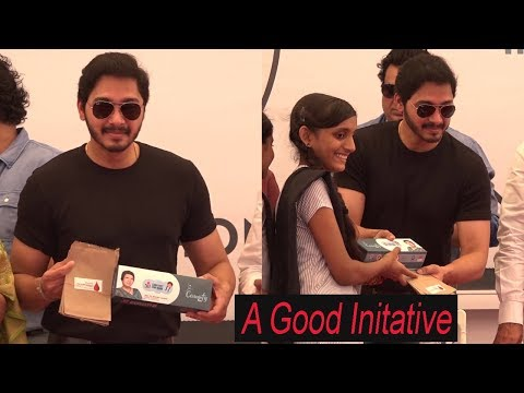 Shreyas Talpade At Inauguration & Distribution Of Sanitary Pad & Disposal Kids