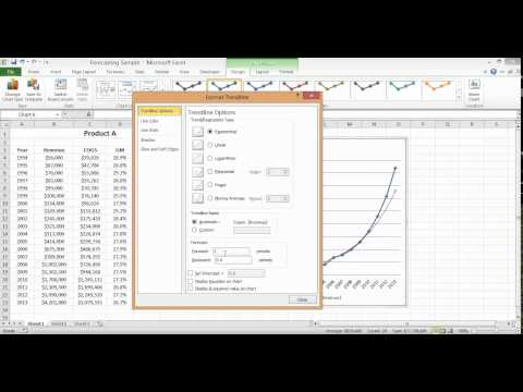 Excel Charts - Creating a Revenue Forecast