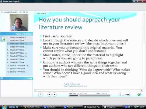 how to write a literature review uk example